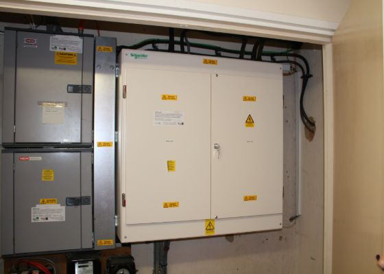Main Distribution Board at Dr Walkers Primary School
