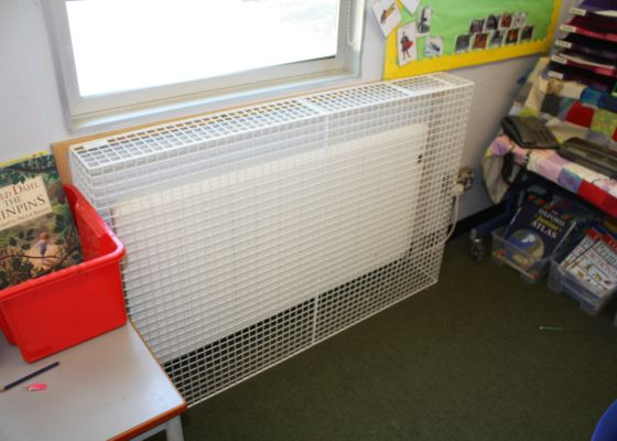 New radiator at Dr Walkers Primary School