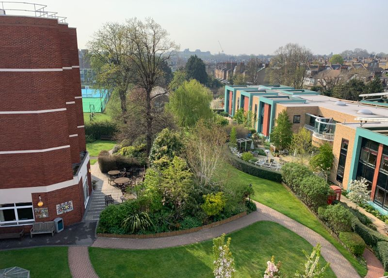Aerial view of Nightingale Hammerson Care Home estate